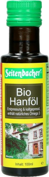 Bio Hanföl von Seitenbacher, 100 ml Flasche